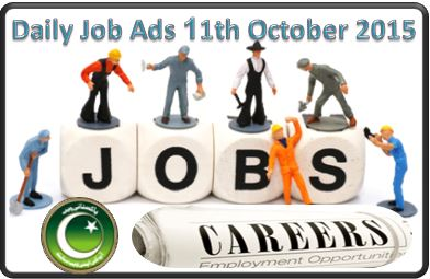 Daily Job Ads 11th October 2015