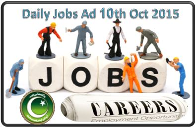 Daily Jobs Ad 10th Oct 2015