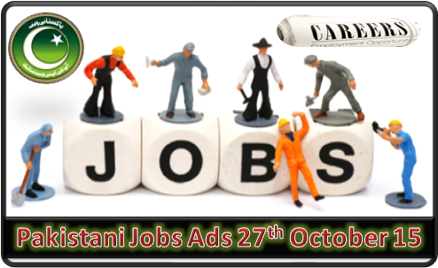 Pakistani Jobs Ads 27th October 2015