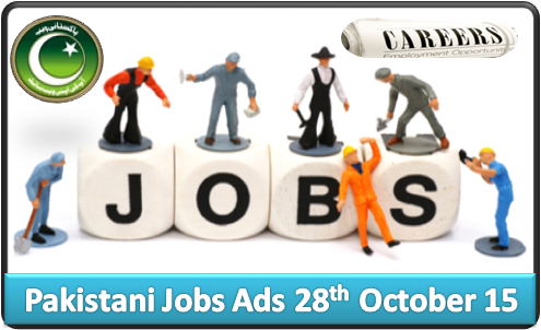 Pakistani Jobs Ads 28th October 2015