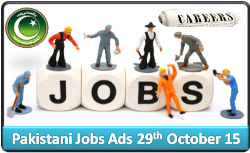 Pakistani Jobs Ads 29th October 2015