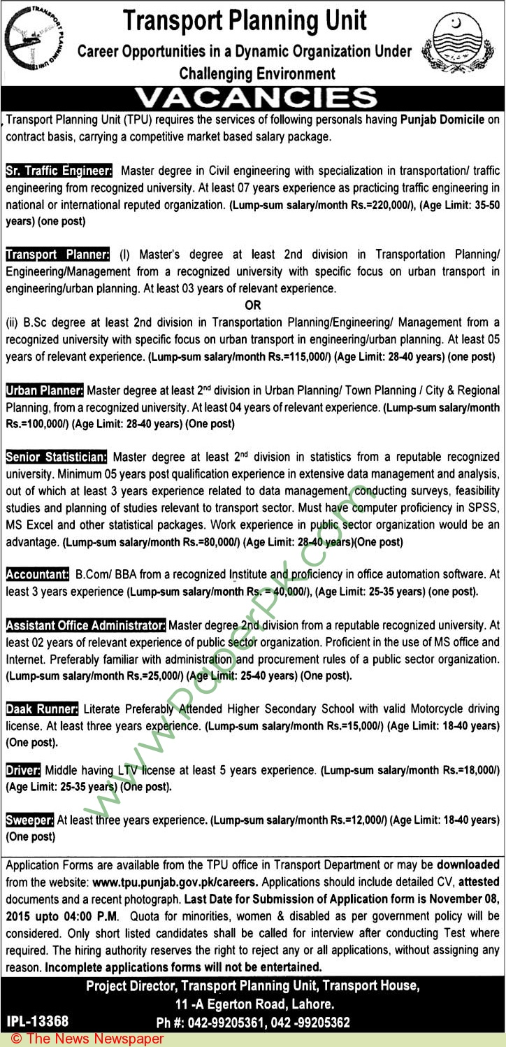 Knitting Units In Lahore : Pakistani jobs ads nd october web