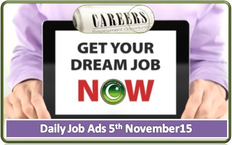 Daily Job Ads 05th November 2015
