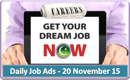 Daily Job Ads 20th Nov 2015