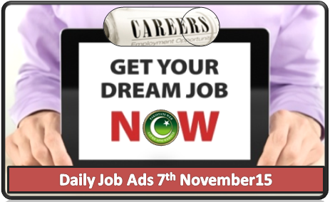Daily Job Ads 7th November 2015