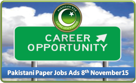 Daily Job Ads 8th November 2015