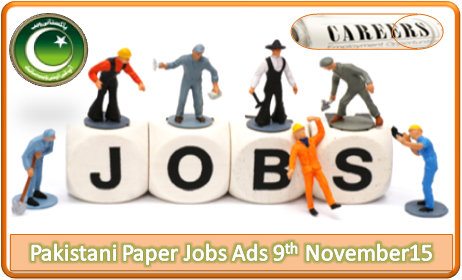 Daily Job Ads 9th November 2015