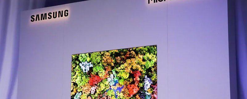 سام سنگ نے دنیا کا پہلا مائیکرو ایل ای ڈی ٹی وی متعارف کرادیا